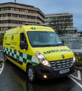 Private ambulance can be arranged to transport patients to/ from Blackrock Clinic